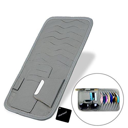 Preisvergleich Produktbild xhorizon Auto-Sonnenvordach CD DVD VCD Disc Schallplatte Tasche Leder Kasten Anhalt mit Brillen und Karten Motage-Manager