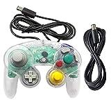 Gamecube Controller, AreMe 1 Pack Classic Wired Controller mit Verlängerungskabel für Nintendo Wii Gamecube GC Konsole weiß transparent