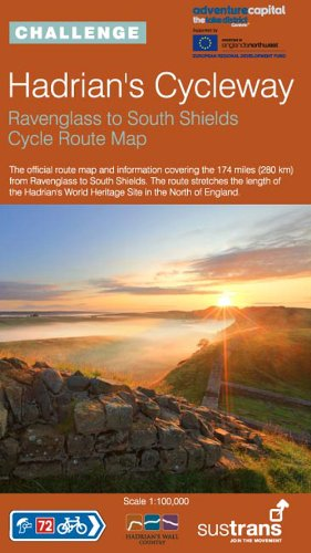 Hadrian's Cycleway: Sustrans' Official Cycle Route Map for Ravenglass to Tynemouth (Sustrans National Cycle Network) por Sustrans