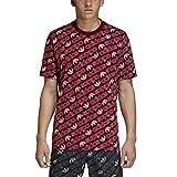 adidas Herren Monogram T-Shirt, Collegiate Burgundy, L