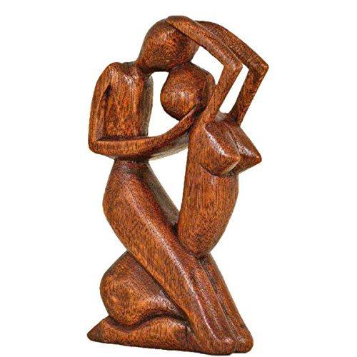 Simandra Holz Figur Skulptur Abstrakt Holzfigur Statue Afrika Asia Handarbeit Deko Leidenschaft Größe 30 cm
