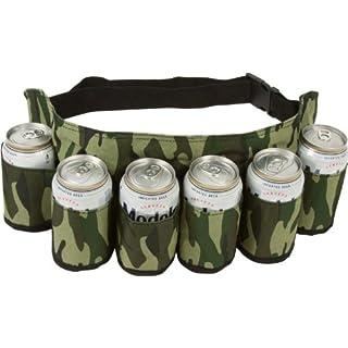 Ayouyou Outdoor Biergürtel Getränke Rucksack für 6 Flaschen Bier flaschenhalter Outdoor Besteck-Set Beer Belt (Tarnung)