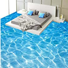 Lqwx Agua Verde De Rizo Impermeable Pintura Mosaicos Autoadhesivos Papel Tapiz Pintura Suelos 3D Pegatinas Papel