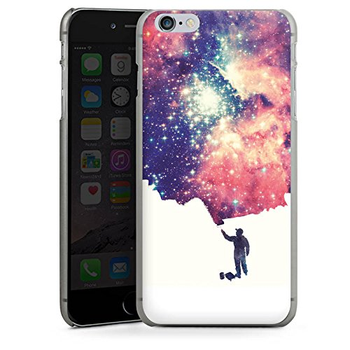 Apple iPhone X Silikon Hülle Case Schutzhülle Universum Space Grafik Hard Case anthrazit-klar