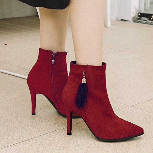 MissSaSa Donna Scarpe col Tacco Alto Elegante e Classico Rosso