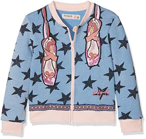 DESIGUAL Desigual Mädchen Sweatshirt Sweat_CHEJOV Blau (Azul Capri 5067), 104 (Herstellergröße: 3/4)