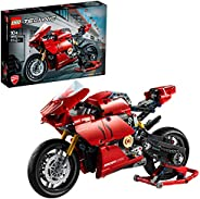LEGO Technic Ducati Panigale V4 R 42107 advanced building set, Italien Superbike replica model and racing stan