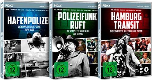 Hamburger Krimi-Trilogie: Hafenpolizei + Polizeifunk ruft + Hamburg Transit - Die kompletten drei Serien (20 DVDs)