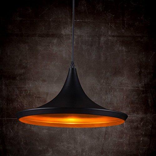 KJLARS moderno Lampadari a sospensione con paralume in nero metallo lampada (TYP-3)