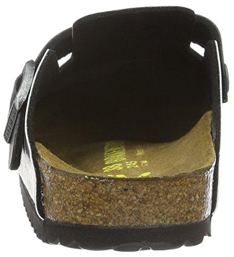 Birkenstock Boston Birko-Flor, Sabots Mixte Adulte Multicolore - Mehrfarbig (Kylo REN Black)