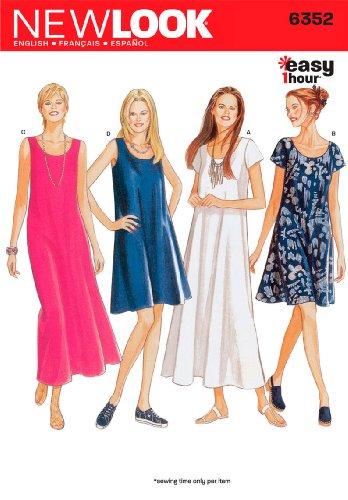 54d3dc6b4d Details about New Look 6352 Size A Misses Dresses Sewing Pattern,  Multi-Colour