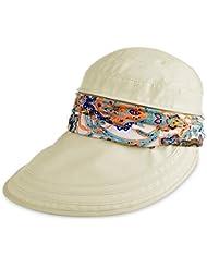 VBIGER Casquette à Visière Anti-soleil Pliable Chapeau de Soleil Anti-UV Détachable Loisir pour Eté