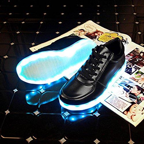 LED Chaussures, Malloom® LED USB Lumière de recharge Chaussures Up Glow Chaussures de sport de mode clignotantes Luminous Noir