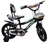 Alpine Cycles 14 inches BMX Smart Black Unisex Kids Cycle for 3 to 5 Years