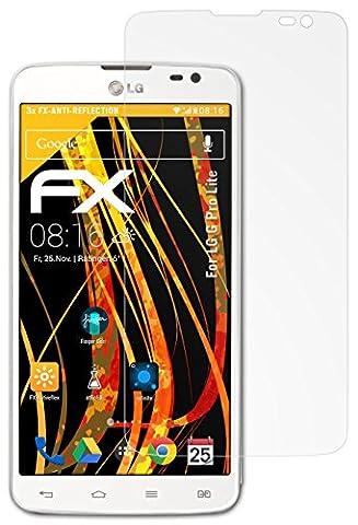 LG G Pro Lite Displayschutzfolie - 3 x atFoliX FX-Antireflex blendfreie Folie Schutzfolie