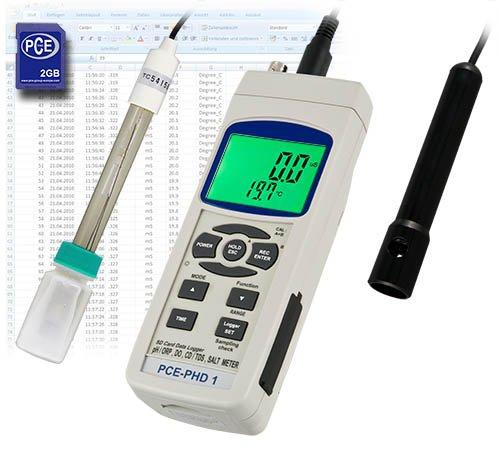 PCE Instruments pH-Meter PCE-PHD 1 / pH-Messgeräte / pH-Messgerät zur Überprüfung der Wasserqualität…