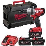 Milwaukee - Percussion drill M18 SET1D-503X 3 batteries 5.0 Ah Milwaukee - 4933451454