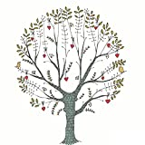 Shi18sport Kundenspezifische Fingerabdruck Leinwand Malerei Gästebuch Zeichen Souvenir DIY Baum Pflanze Geburtstag Hochzeit Veranstaltung Taufe Party Dekoration, 60X80 cm