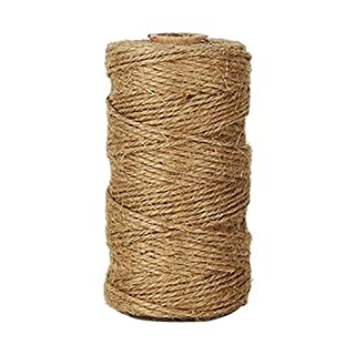 Lumanuby 1 Roll Jute Rope Natural Jute Twine String Vintage Durable Hemp Rope Day Accessories, DIY, Arts, Crafts, Decoration And Bundling Packing Materials for Gardening Applications (100 Meters)