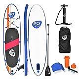 COSTWAY SUP Board aufblasbar Paddelboard Surfboard Stand Up Board Set Paddelbrett 300 x 76 x 15cm