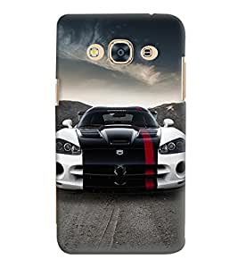 Printvisa Stylish Tricoloured Convertible Car Back Case Cover for Samsung Galaxy J3 Pro