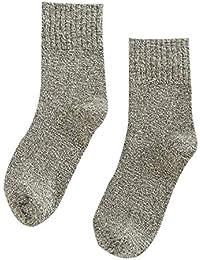 Shuzhen,3 pares de otoño e invierno calcetines gruesos de lana de los hombres cálidos
