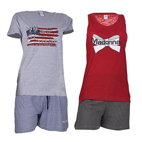 Damen Shorty Pyjama in 2 Designs