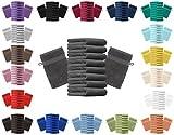 Betz 10er Pack Waschhandschuhe Waschlappen Größe 16x21 cm Kordelaufhänger 100% Baumwolle Premium Farbe dunkelblau