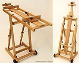 Atelier-Staffelei 131, BUCHENHOLZ, Höhe bis 230 cm, vormontiert - kein Bausatz !