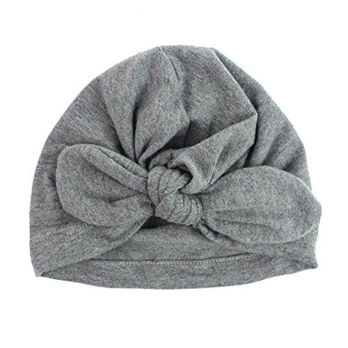 Ohren Spitzen Machen Kostüm (Babybekleidung Hüte & Mützen Winter Baby Kinder Mädchen Jungen Warme Baumwolle Mützen Bogen Knoten schönen weichen Hute (15.3*17.5cm))