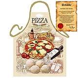 Veri Italienisch Kochen - la Cucina Italiana Grembiule: Pizza - Geschenke Kochschürze mediterrane Küche one Size, bunt mit gratis Urkunde :