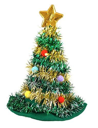 Adulto Albero Di Natale Cappello Con Stella Novità Divertimento Festa Di Natale Copricapo