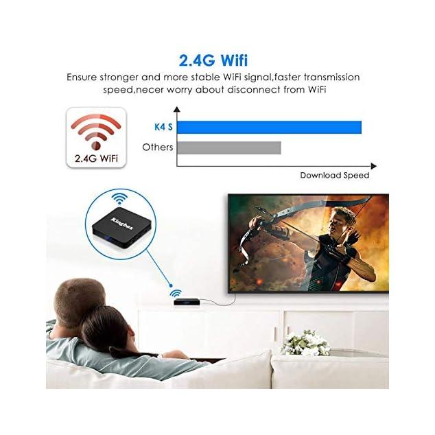 Kingbox Android 9.0 TV Box K4S TV Box 4GB RAM+32GB ROM Quad Core mit 2.4G WiFi 3D/ 4K/ 100 LAN / H.265, HDMI, USB*3 Smart TV Box