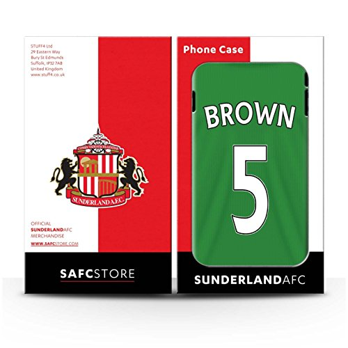 Offiziell Sunderland AFC Hülle / Glanz Harten Stoßfest Case für Apple iPhone SE / Pickford Muster / SAFC Trikot Away 15/16 Kollektion Brown