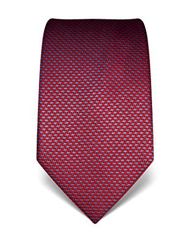 Vincenzo Boretti Herren Krawatte reine Seide Hahnentritt Muster edel Männer-Design zum Hemd mit Anzug für Business Hochzeit 8 cm schmal/breit weinrot
