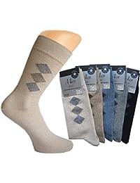 10er Pack oder 20er Pack Herrren Socken mit klassischer Raute, Karomotiv, Größe 39/42 oder 43/46