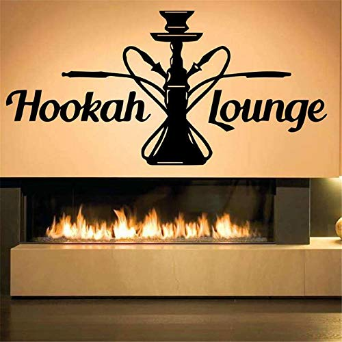 wandaufkleber 3d Wandtattoo Wohnzimmer Shisha Shop Aufkleber Mann Aufkleber Shisha Smoking Smoke Arabisch Aufkleber Kunst Wandbild für Bar Pub