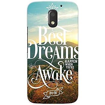 Kaira High Quality Printed Designer Back Case Cover For Motorola Moto E3 Power(bestdreams)