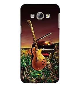 PrintHaat Designer Back Case Cover for Samsung Galaxy A8 (2015) :: Samsung Galaxy A8 Duos (2015) :: Samsung Galaxy A8 A800F A800Y (guitar lover :: guitar player :: Musical design :: Music note design :: Instrumental design :: Melody design :: Music rock design :: love playing on guitar)