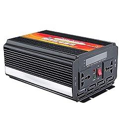 Ting WU 5000W Smart-Sonnenenergie-Inverter DC 12V / 24V bis 220V AC / 110V-Konverter Intelligent-LCD-Display Power Inverter (Voltage : 24V-220V)