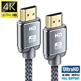 Cavo HDMI 4K 2m, Snowkids Cavi HDMI 2.0 a/b ad alta Velocità con Ethernet, Supporta 4K 60Hz HDR 2.0/1.4a, Video UHD 2160p, Ultra HD 1080p, 3D, Xbox, PS3, PS4, TV, Computer e Monitor
