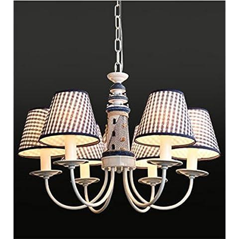 Faro de la lámpara del dormitorio del muchacho lámparas azules de hierro de estilo europeo - estilo de los niños 's luces de la habitación