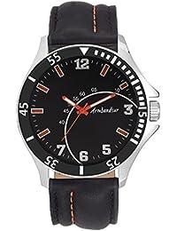 Armbandsur Analog Black dial elegant Watch-ABS0018MBB