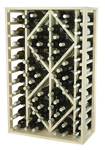 Expovinalia Botellero con Capacidad de 68 Botellas, Madera, Blanco, 32x68x105 cm