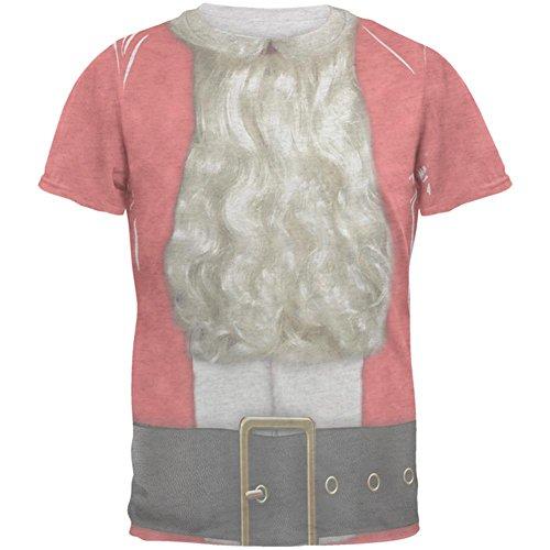 Weihnachten bärtigen Santa Kostüm Herren T Shirt White