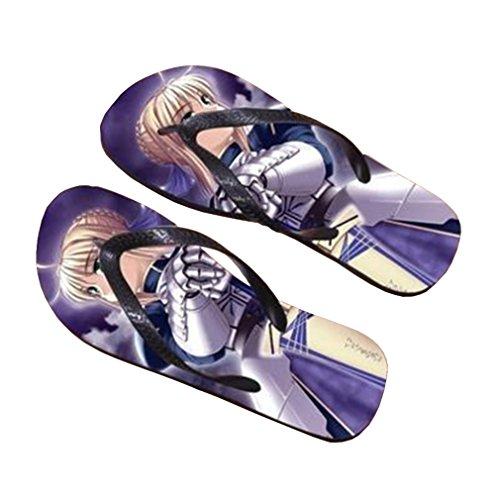 Bromeo Fate Zero Fate / Stay Night Anime Aleta Unisex Flip Flops Flops Chinelos 234