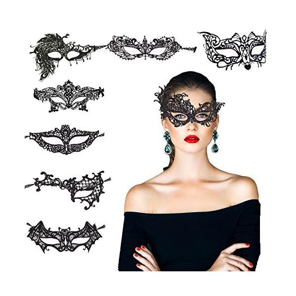 KAKOO Maschera Misteriosa Del Merletto Della Donna Del Merletto Per la Mascherina di Mascherina Del Partito del Mascherato di Halloween di 8 1 spesavip