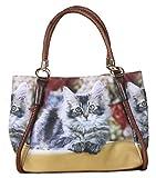 Handtasche mit Katzenmotiv - Herbstkätzchen