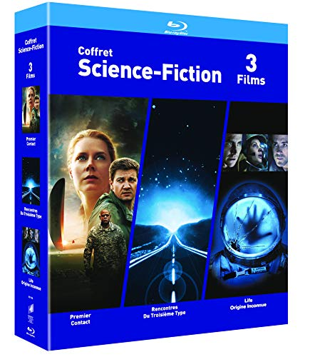 COFFRET SCIENCE-FICTION Blu-ray - Premier Contact / Rencontres du 3e Type / Life : Origne Inconnue - Exclusif Amazon