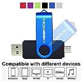 Clé USB 128 Go/1 connecteur USB et 1 connecteur micro-USB (OTG) pour PC/MAC/tablettes et smartphones Android (Disponible en 32 Go 64 Go 128 Go) - Argent